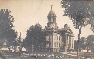 D95/ Windom Minnesota Mn RPPC Postcard c1910 Cottonwood County Court House