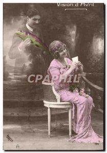 Old Postcard Fantasy Easter Pisces Female