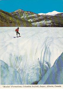 Canada Moulin Formations Columbia Icefield Jasper Alberta
