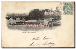 Paris - Le Pont Neuf - Old Postcard