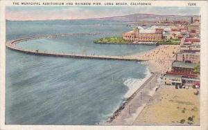 California Long Beach The Municipal Auditorium And Rainbow Pier