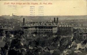 High Bridge and City Hospital St. Paul MN 1912