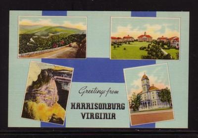Virginia Postcard Greetings Harrisonburg