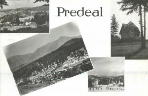 Roamania Predeal multi view mountain chairlift hotel post card