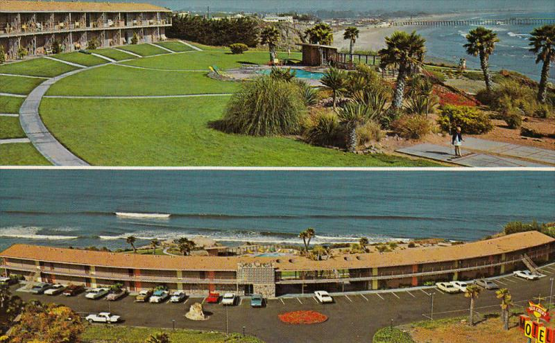 Swimming Pool, Sea Crest Motel, Beach Shore, Aerial View, Fishing Pier, PISMO...