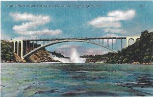View of Niagara Falls Looking Through International Rainbow Bridge New York