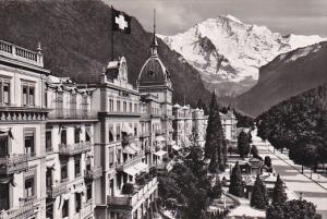 RP, Hoheweg - Promenade Mit Jungfrau, Interlaken, Switzerland, 1920-1940s