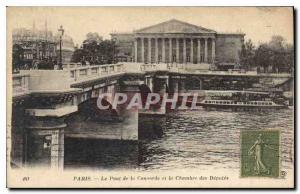 Postcard Old Paris Pont de la Concorde and the Chamber of Deputies