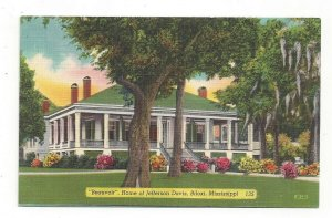 Postcard Beauvoir Home Jefferson Davis Biloxi Mississippi Standard View Card