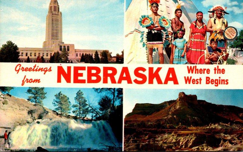 Nebraska Greetings From Where The West Begins Multi View