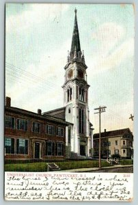Pawtucket Rhode Island~Universalist Church Clock Tower~Big House~Buildings~1908