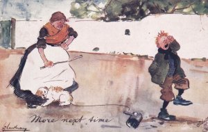 Thackeray ; Woman & crying boy More next time. , 1905 ; TUCK #9059