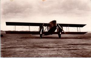 RPPC  THE GOLDEN RAY  c1920s  AIR UNION AIRPLANE   Scarce   Postcard