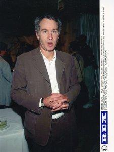 John McEnroe at Aces Restaurant 2002 US Tennis Open New York Press Photo
