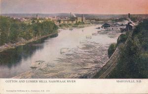 Cotton and Lumber Mills along Nashwaak River Marysville NB New Brunswick Canada