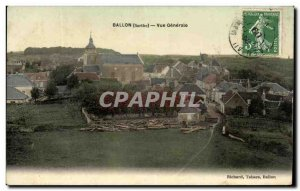 Old Postcard Balloon Vue Generale