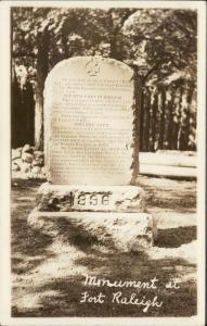 Monument at Fort Raleigh real photo