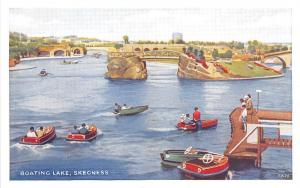 B89232 boating lake   skegness   uk
