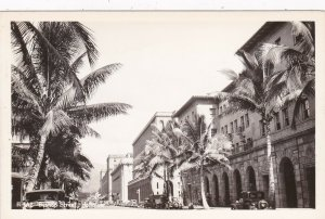 Hawaii Honolulu Bishop Street Real Photo sk4270