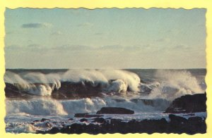 RAGING SURF ALONG  THE MAINE COAST.  SEE SCAN  125