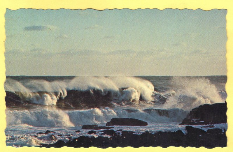 RAGING SURF ALONG  THE MAINE COAST.  SEE SCAN