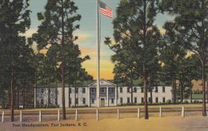 FORT JACKSON , South Carolina , 1930-40s ; Post Headquarters
