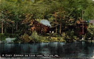 Maine Naples Cozy Corner On Long Lake 1915