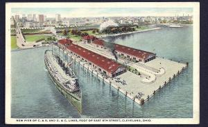 East 9th Street Piers C&B Lines Cleveland Ohio used c1910's