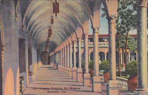 Loggia Ringling Art Museum Sarasota Florida 1954 Curteich