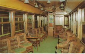 Interior of Private Parlor Car - At Branford Trolley Museum CT, Connecticut