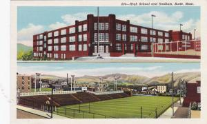 BUTTE, Montana, 1930-40s; Split View, High School and Stadium