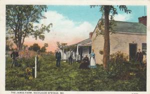 EXCELSIOR SPRINGS, Missouri, PU-1928; The James Farm