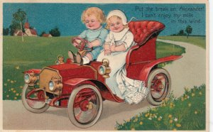Toddlers in an automobile, PU-1908; PFB 7318