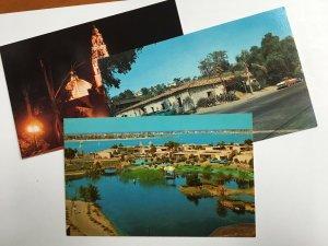 3 San Diego CALIFORNIA Vintage Chrome Postcards