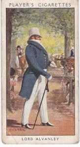 Cigarette Card Player's Dandies No 31 Lord Alvanley