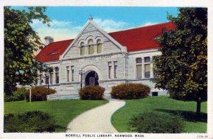 [ American Art ] US Massachusetts Norwood - Morrill Public Library