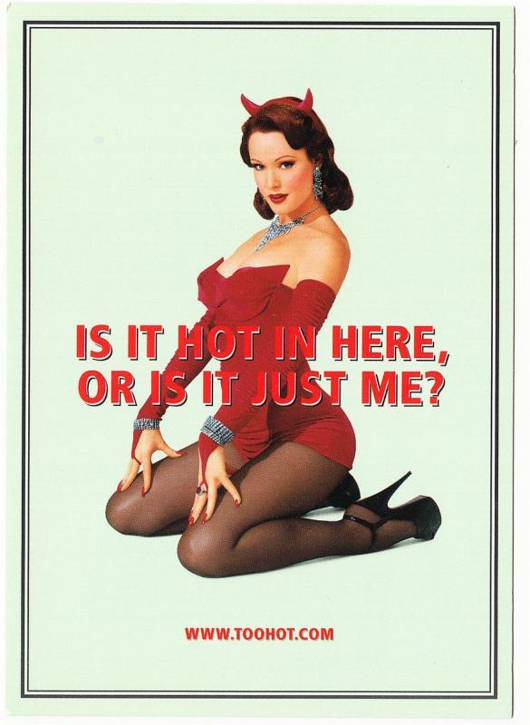 Altoids Mints Is It Hot In Here Pinup Decal Postcard 1990s-2000s