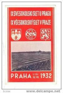 Sports festival, PRAHA 1932, Czech Republic