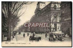Old Postcard Bank Credit Lyonnais Paris