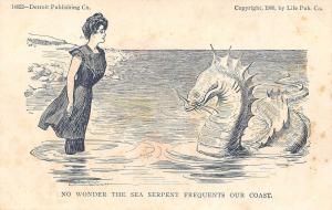 Charles Dana Gibson~No Wonder The Sea Serpent~Bathing Beauty~Detroit Pub Co 1906