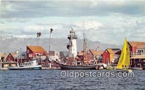 Fisherman's Village Marina Del Rey, California USA Ship Postcard Post Card Ma...