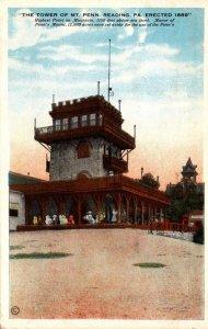 Pennsylvania Reading The Tower Of Mount Penn 1942