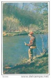 Trout Fishing, Warren County, Pennyslvania, PU 1958