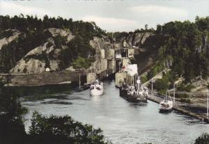 RP: Trollhattan. Trollhatte Kanal. Slussarna. Sweden , 40-50s