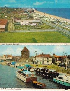 South Denes Caravan Park Site Yacht Station 2x 1960s Great Yarmouth Postcard s