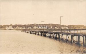 A48/ Wiscasset? Maine Me RPPC Real Photo Postcard c1910 Bridge Homes