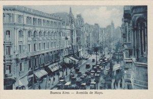 Argentina Buenos Aires Avenida de Mayo Street Scene sk3933