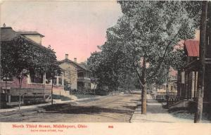 E58/ Middleport Meigs County Ohio Postcard c1910 North Third Street Homes 12