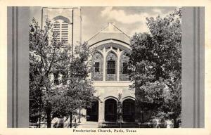 Paris Texas Presbyterian Church Entrance View Antique Postcard K15808