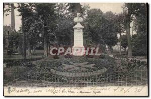 Old Postcard Roanne Monument Populle